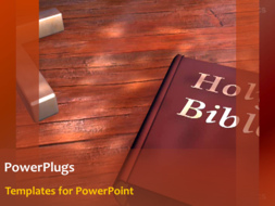 PowerPoint Template - Holy Bible on table